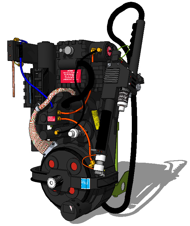 3d Sketchup Proton Pack Model Ghostbusters Fans